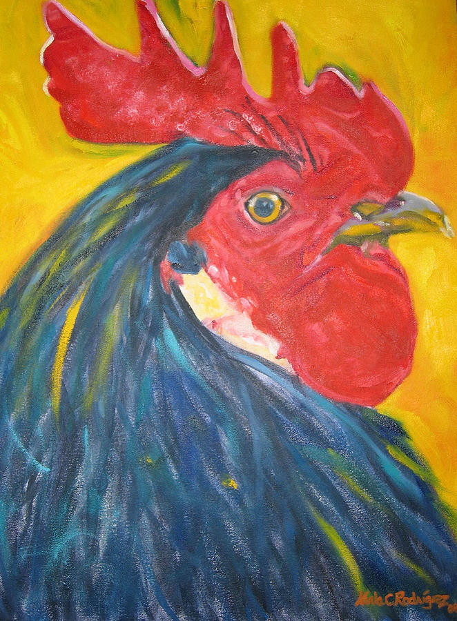 Rooster Painting - Time by Karla Cecilia Rodriguez