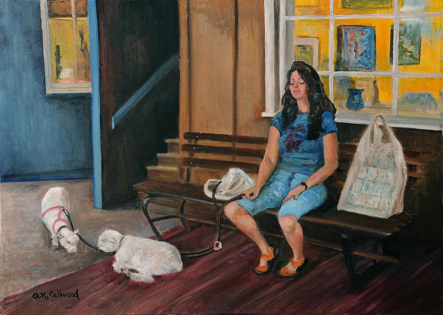 Sheepwalking in Peddlers Village by Aurelia Nieves-Callwood