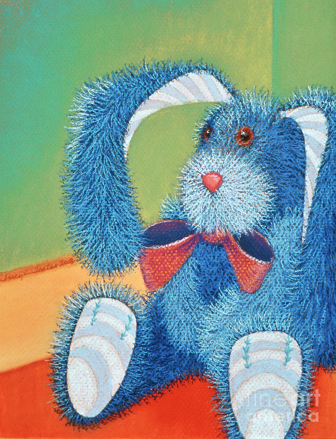 Rabbit Pastel - Time Out by Tracy L Teeter