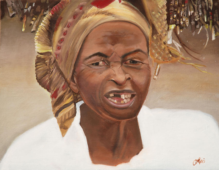 Africa Painting - Time Passes On by Lottiemae Littlefield