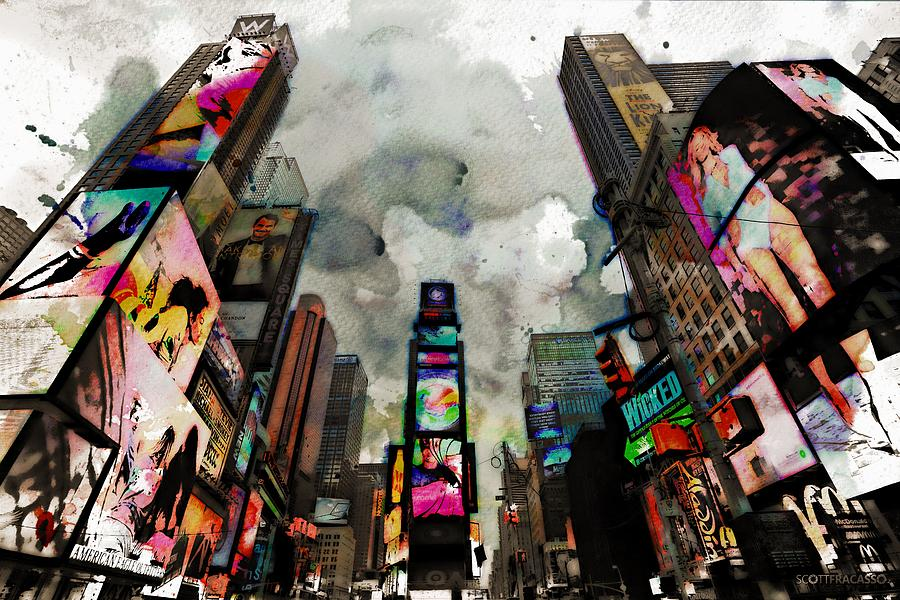 New York Photograph - Time Square Mixed Media by Scott Fracasso