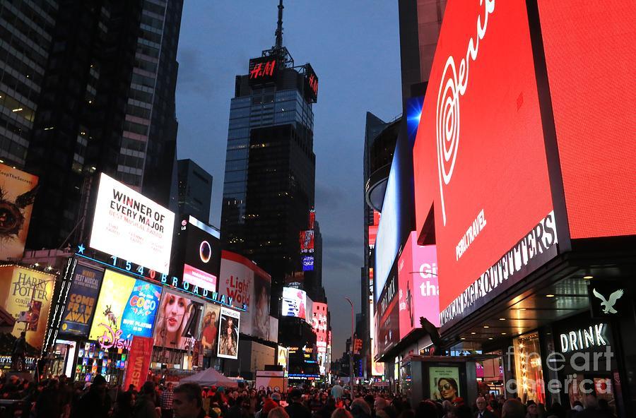 Destination Photograph - Time Square New York City by Douglas Sacha