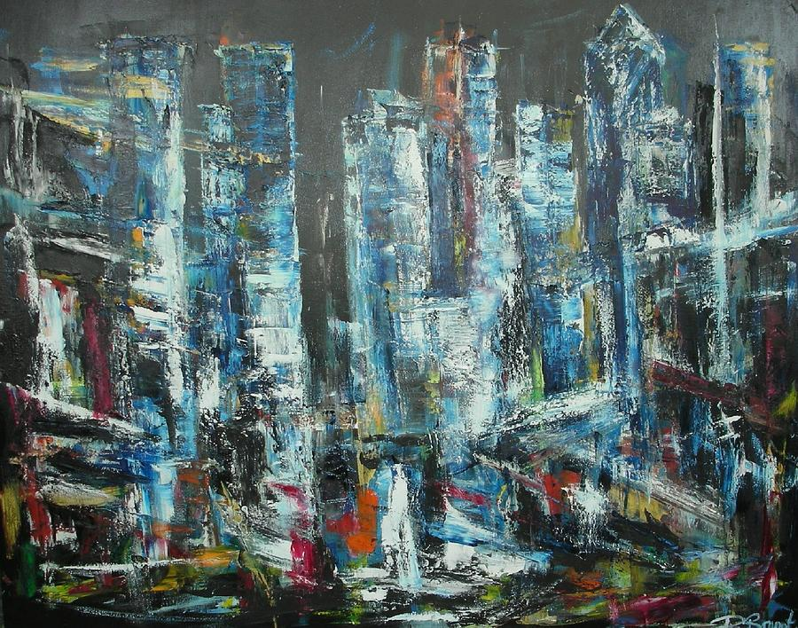 Time Square Painting by Patrice Brunet