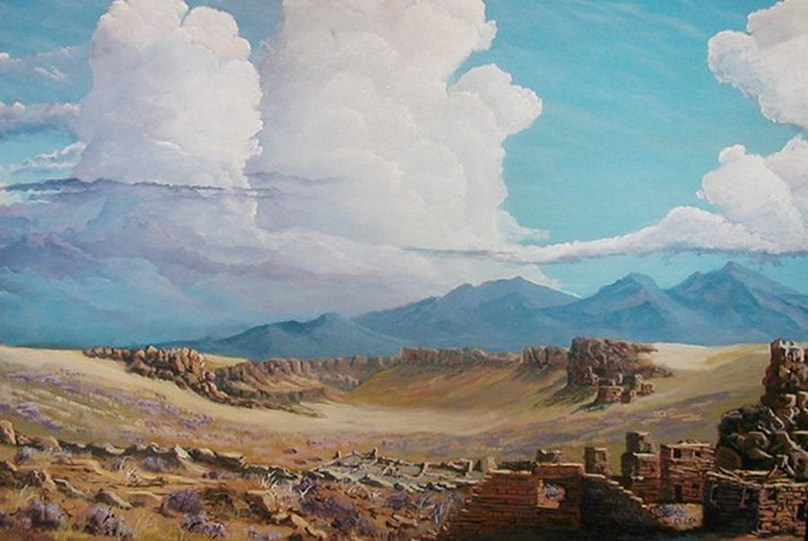 Landscape Painting - Time Stands Still by John Wise