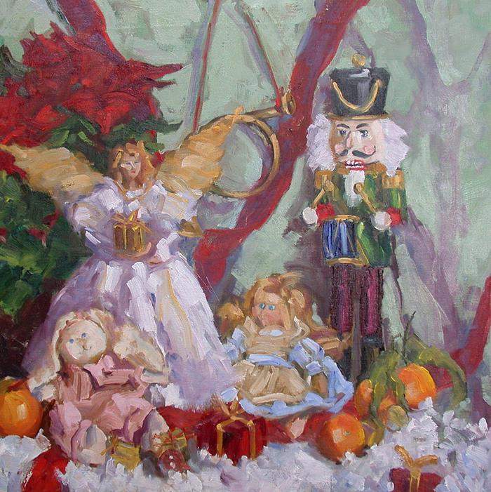 Nutcracker Painting - Time that was by Nancy Delpero