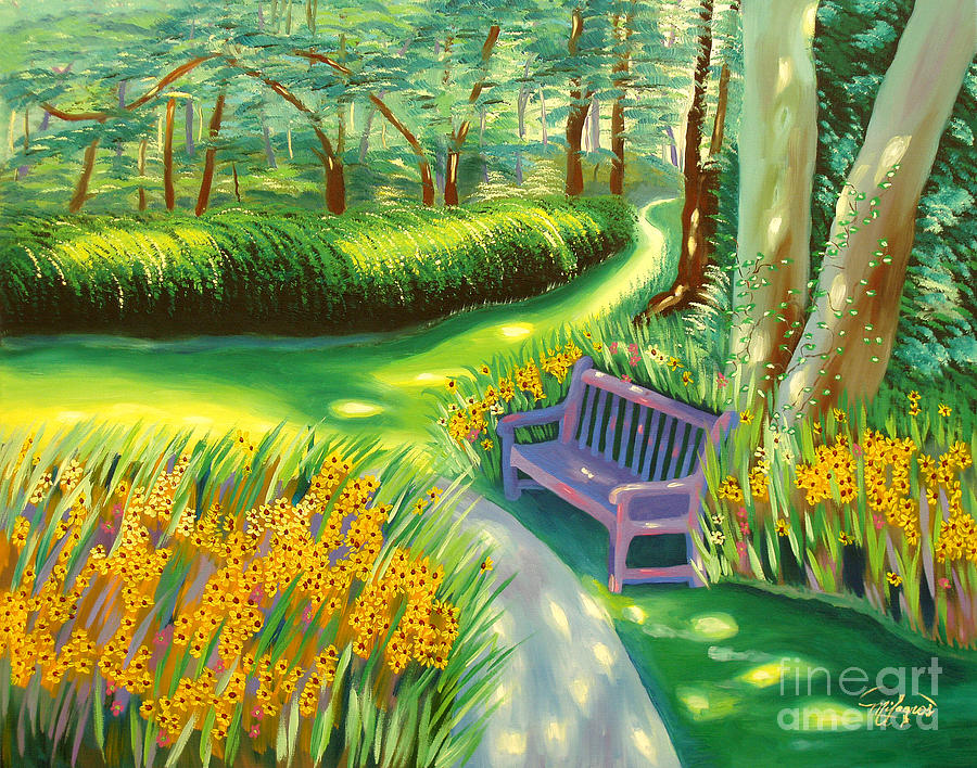 Landscape Painting - Time To Break by Milagros Palmieri