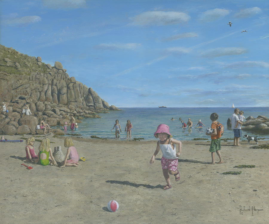 Time To Go Home - Porthgwarra Beach Cornwall Painting