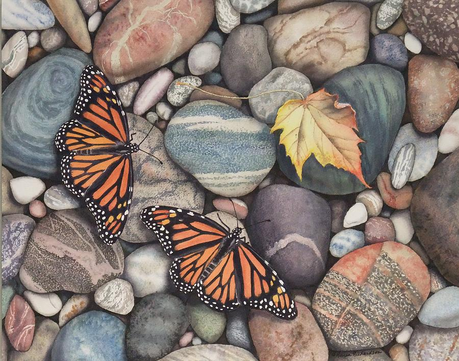 Monarch Painting - Time to Head South by Karen Richardson