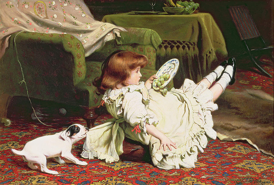 Naughty Painting - Time To Play by Charles Burton Barber