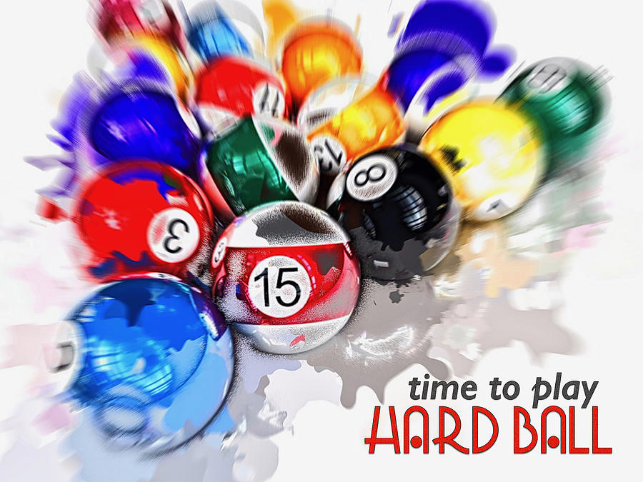 Time To Play Hard Ball White Digital Art