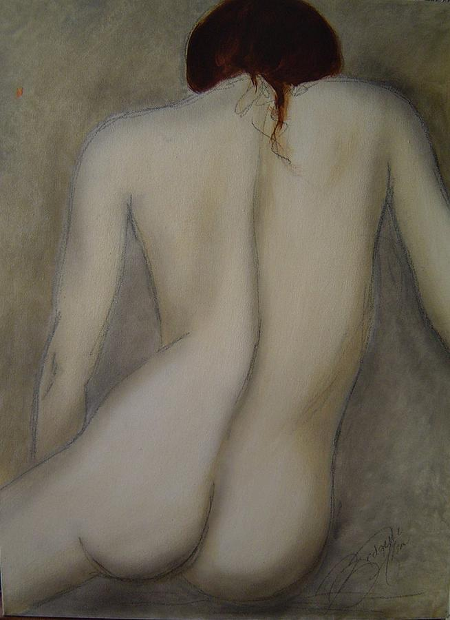 Nude Painting - Time To Reflect by Bridgette  Allan