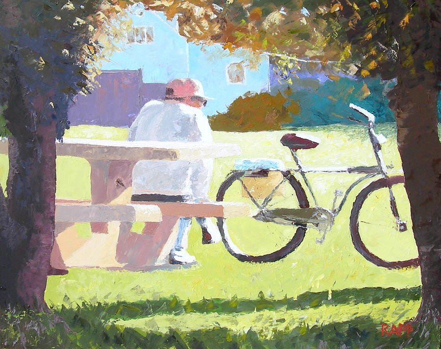 Representational Painting - Time To Reflect by Jan Rapp