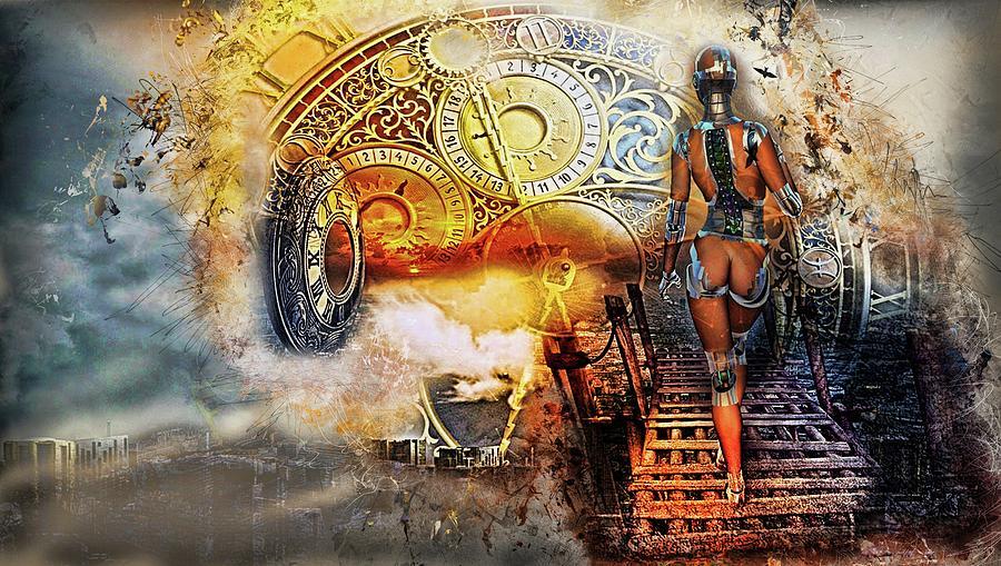 Time travel Digital Art by Louis Ferreira
