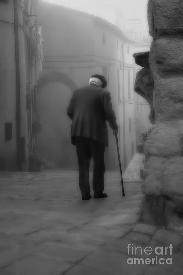 Old Man Photograph - Time Traveller by Henry Kowalski