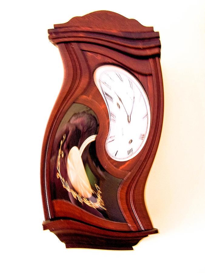 Clock Photograph - Time Warp by Tom Zukauskas