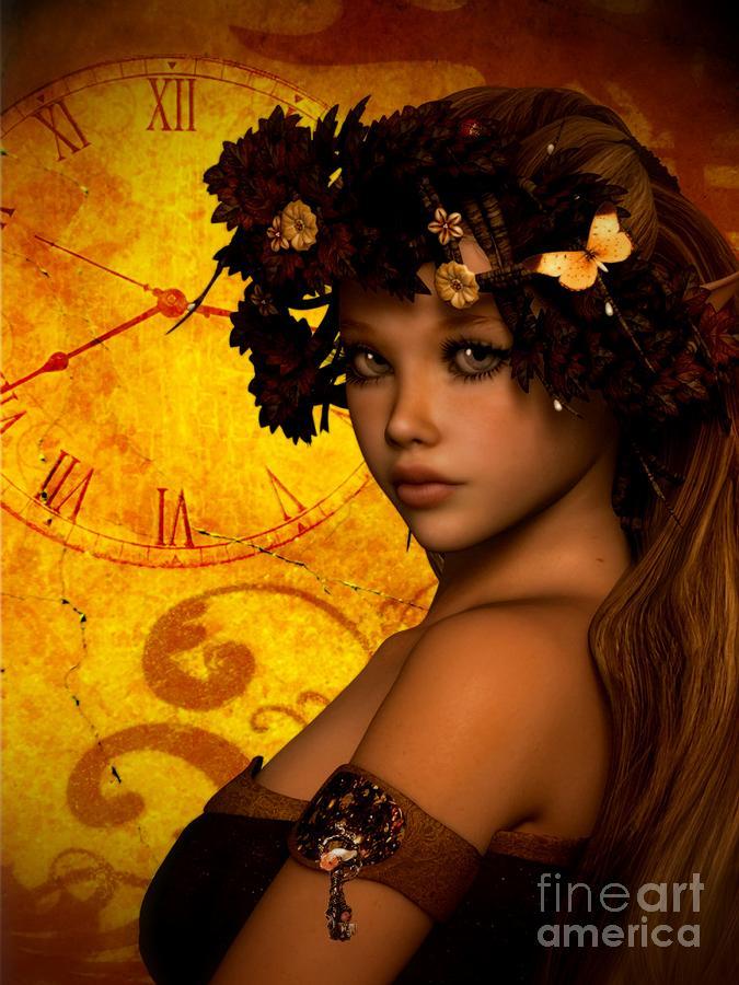 Timeless Autumn Beauty Digital Art by Putterhug Studio