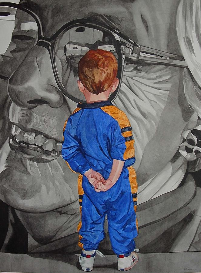 Children Painting - Timeless Contemplation by Valerie Patterson
