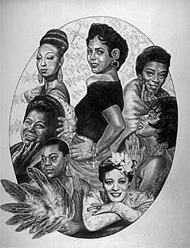 Timeless Divas  Painting by Buena Johnson