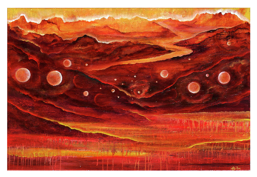 Red Rocks Painting - Timeless by Lily Nava