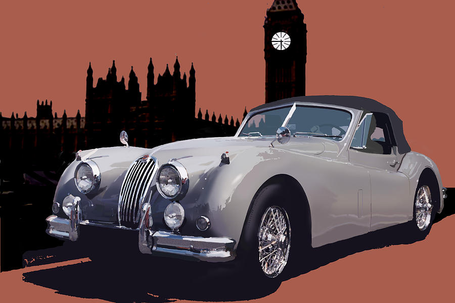 Jaguar Digital Art - Timeless by Richard Herron