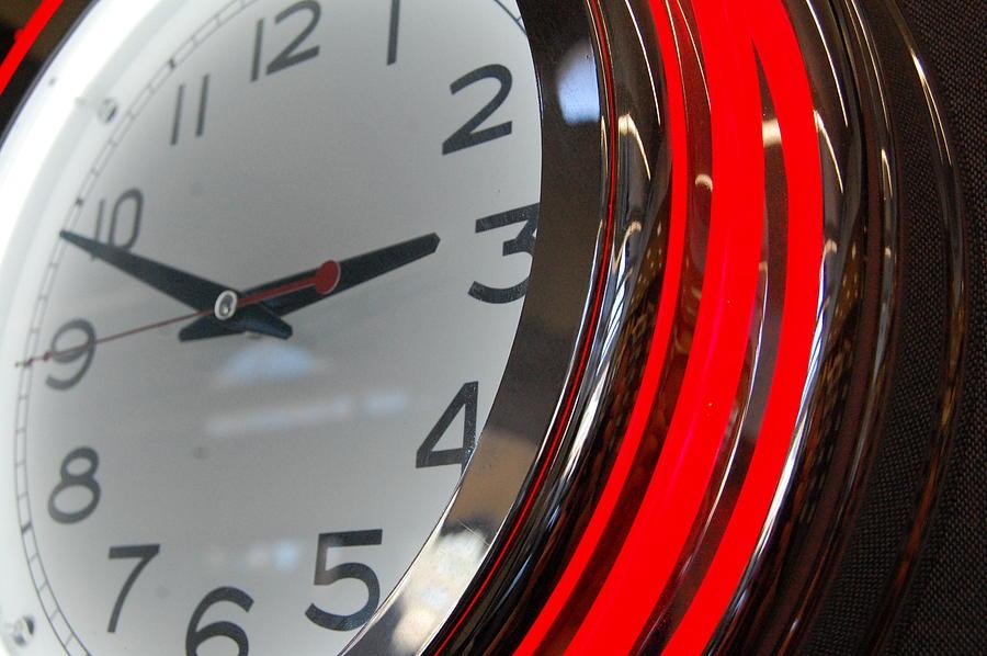 Clock Photograph - Timeout by Kristin Britt