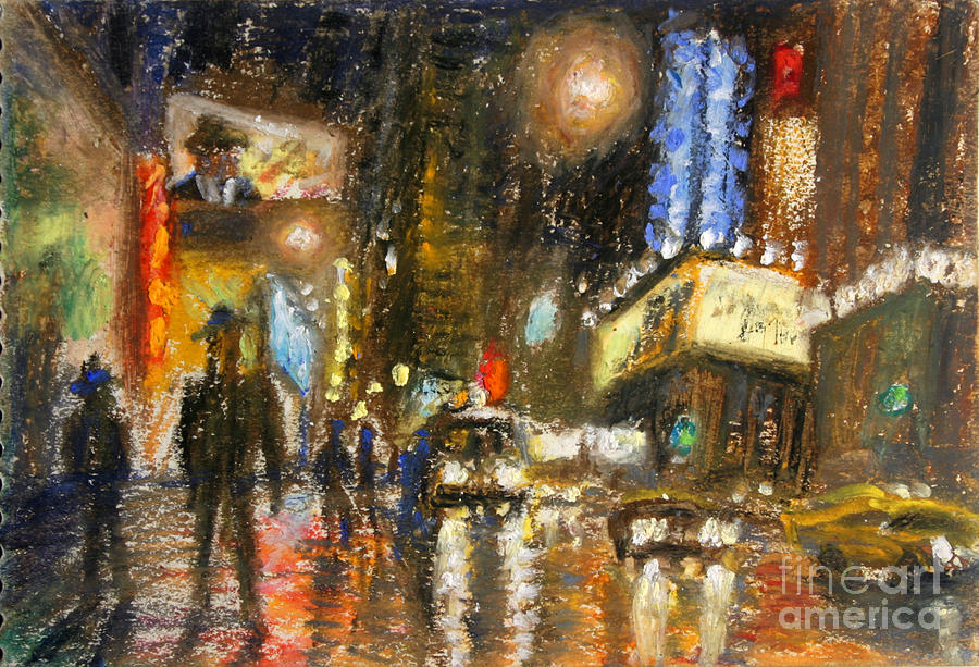 Times Square Painting - Times Square 2 by Arthur Robins