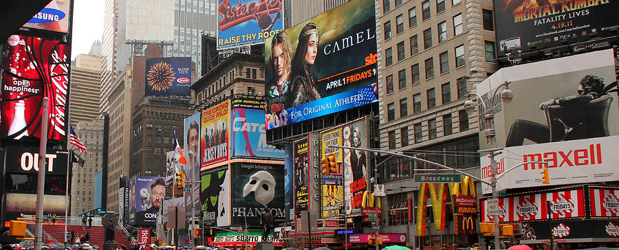 Manhattan Photograph - Times Square 4 by Andrew Fare