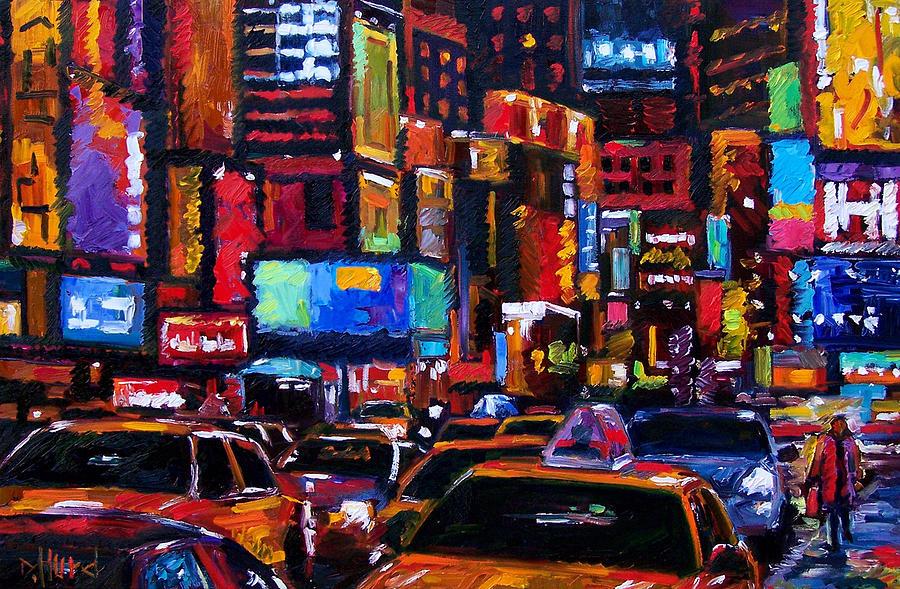 New York City Painting - Times Square by Debra Hurd