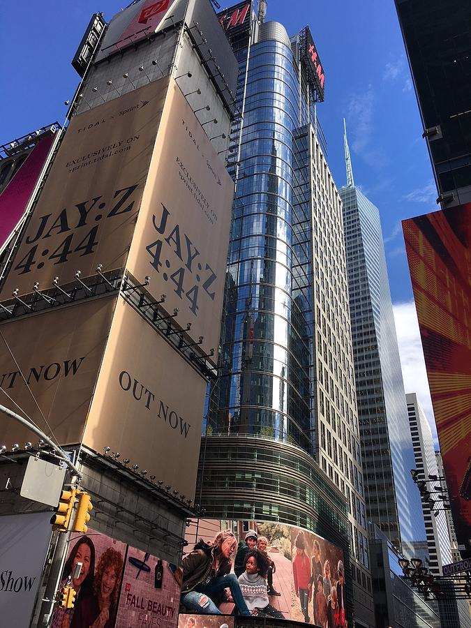 Times Square in Gold by VAL OCONNOR