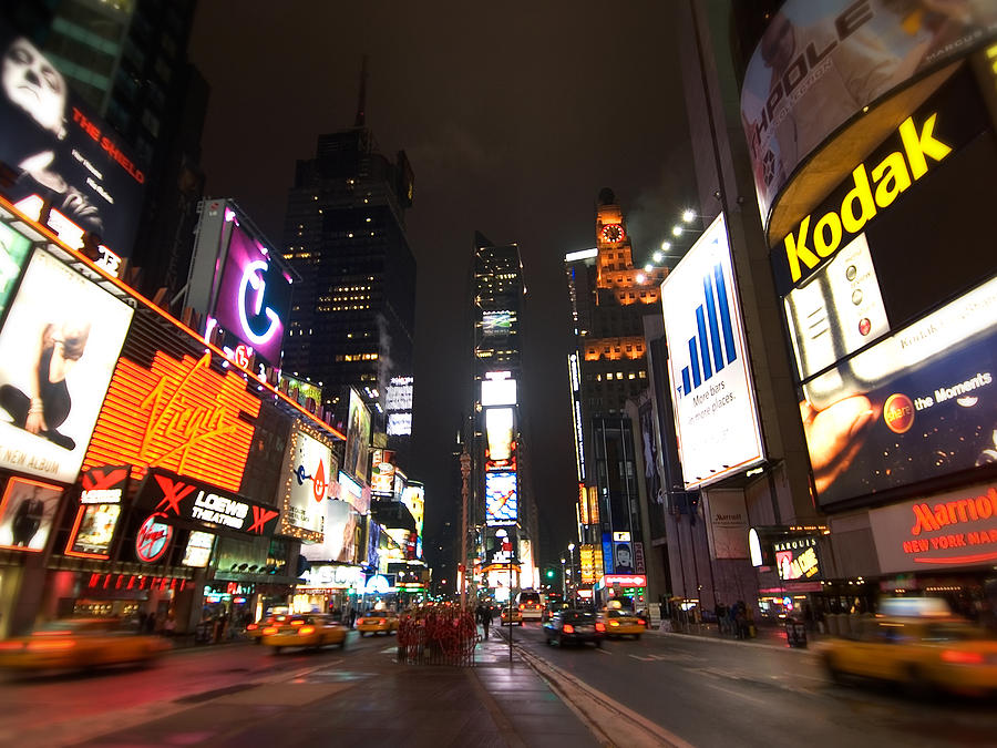 New York City Photograph - Times Square by John Gusky