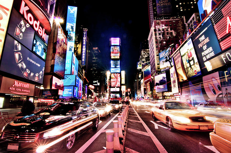 Horizontal Photograph - Times Square, Manhattan, New York by Josh Liba