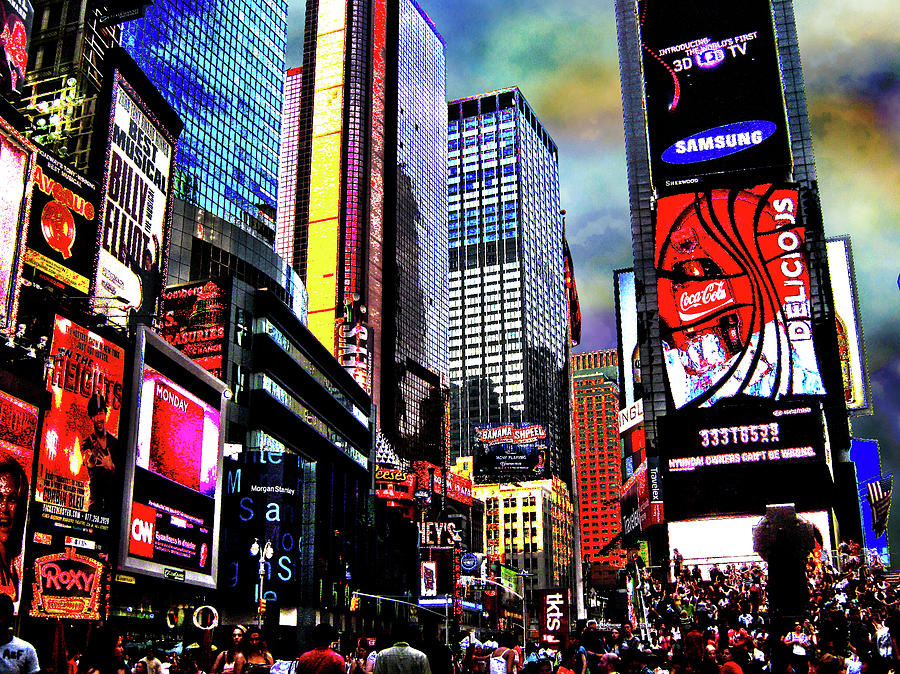 New York Photograph - Times Square by Menucha Citron
