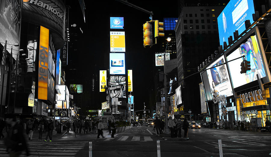 Times Square New York City Big Apple Photograph by Andrew Billings