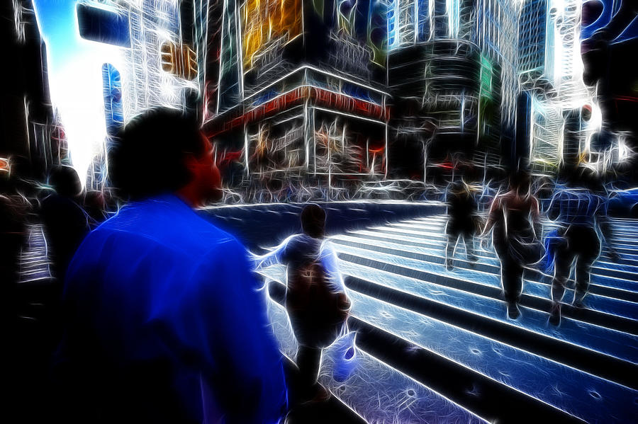 New York Photograph - Times Square New York City by Lawrence Christopher
