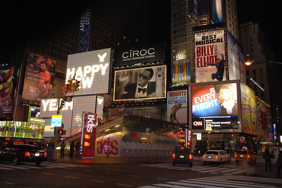 New York City Photograph - Times Square Night by Maria Lopez