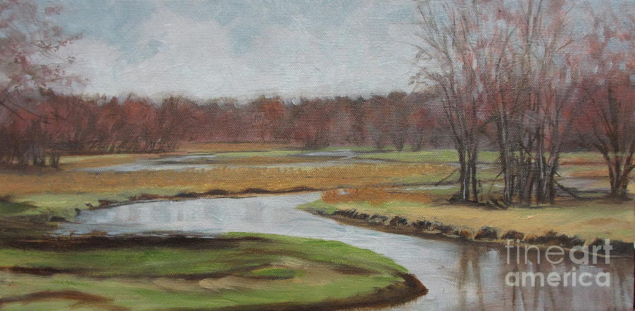 Landscape Painting - Timms Meadow by Sherri Anderson