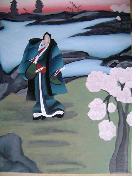 Japanese Painting - Timo Moto As A Grown Up by Claus Thuroe