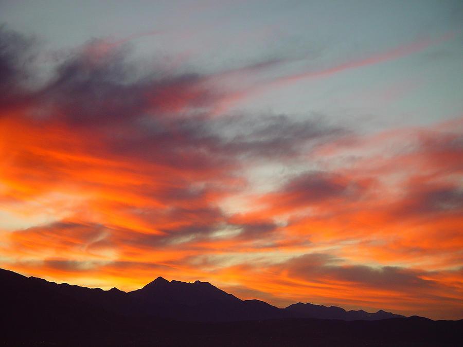 Sunrise Painting - Timponogos Sunrise by Derek Nielsen