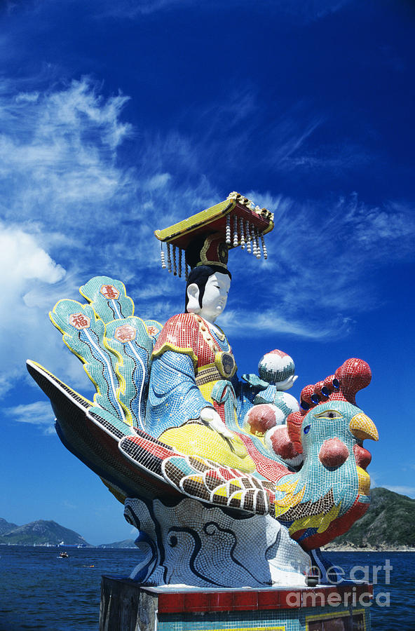 Afternoon Photograph - Tin Hua Temple Closeup Of Colorful Statue by Gloria and Richard Maschmeyer - Printscapes