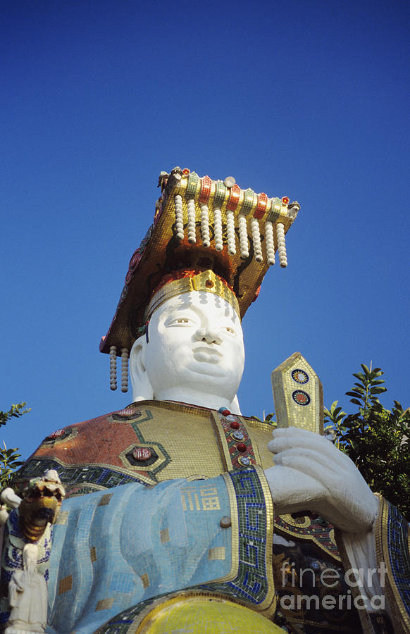 Afternoon Photograph - Tin Hua Temple Colorful Statue by Gloria and Richard Maschmeyer - Printscapes