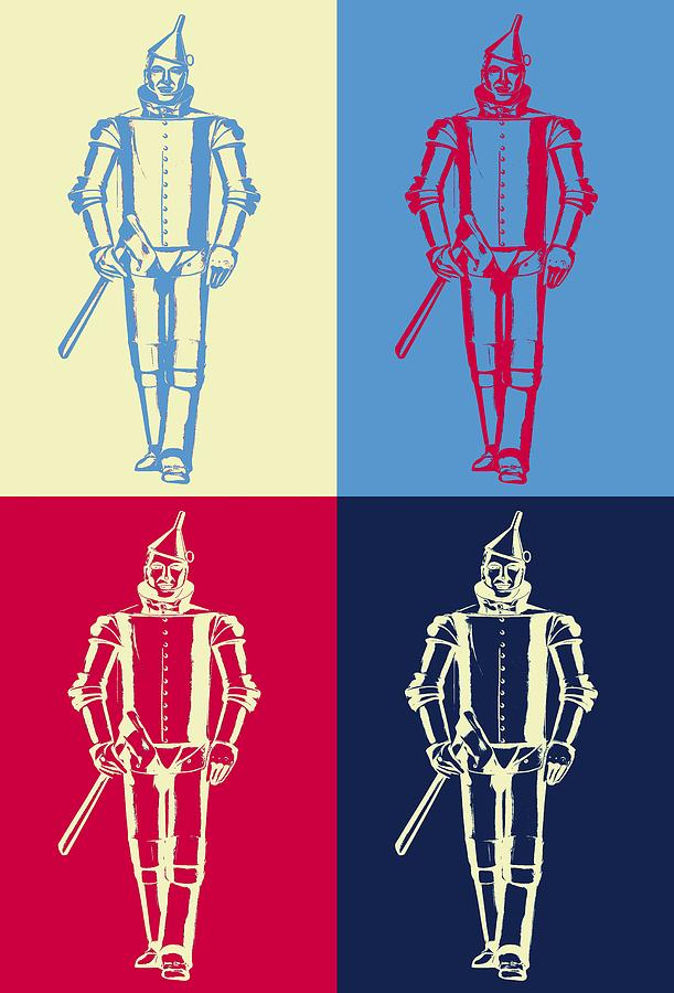 Tin Man Digital Art - Tin Man Pop Art Poster by Dan Sproul