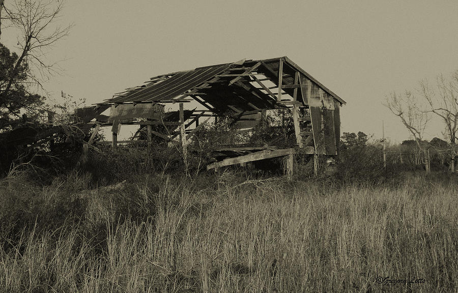 Barn Photograph - Tin Shack by Gregory Letts