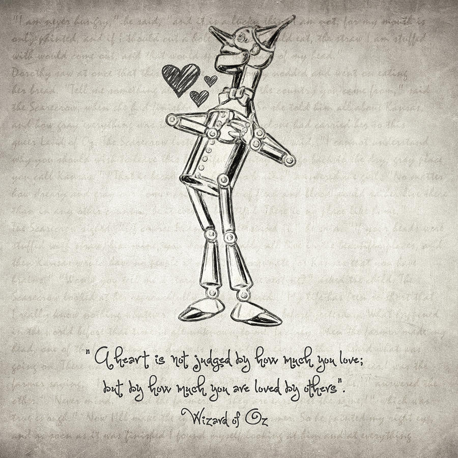 Tin Woodman - Wizard Of Oz Quote Drawing