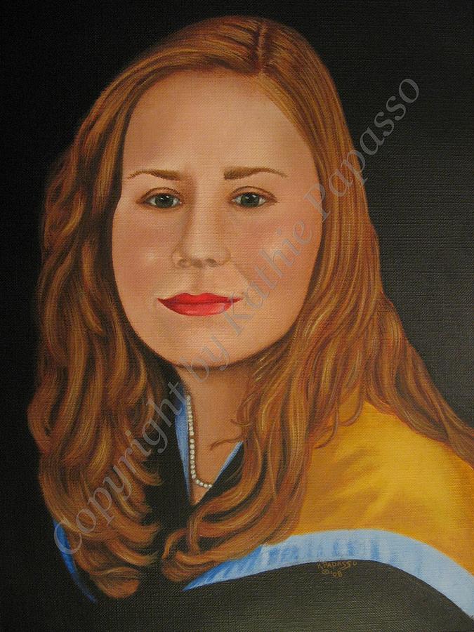 Portrait Painting - Tina by Kathie Papasso
