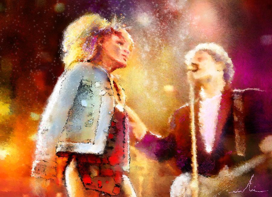 Tina Turner Painting - Tina Turner And Bryan Adams by Miki De Goodaboom