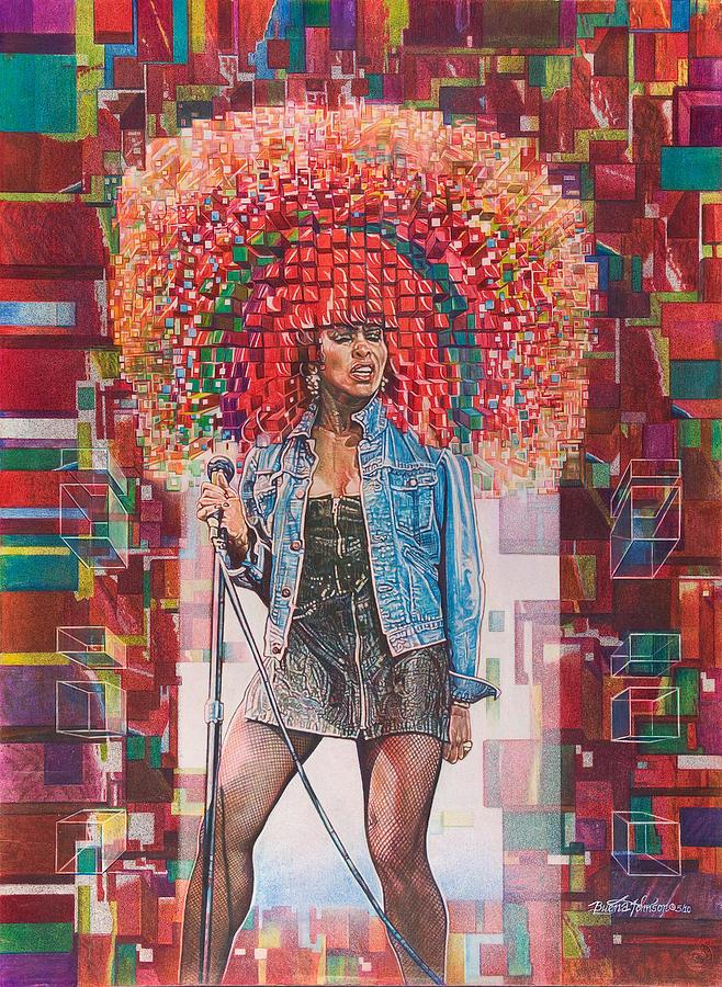 Tina Painting - Tina Turner by Buena Johnson