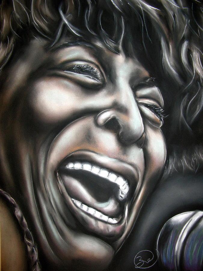 Tina Drawing - Tina Turner by Zach Zwagil