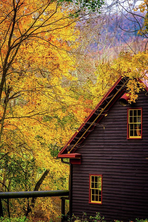 Tingler's Mill in Fall by Joe Shrader