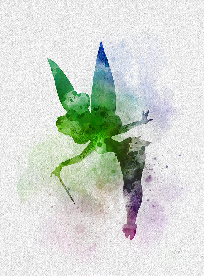 Tinker Bell Mixed Media - Tinker Bell by Rebecca Jenkins