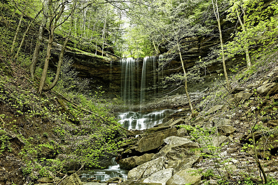 Tinker Falls Photograph - Tinker Falls by Doolittle Photography and Art